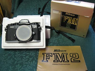 Nikon FM2N 35mm SLR Film Camera Body Only with Box and Manual & Strap