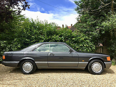 1990/H - Mercedes 560SEC C126 coupe. Black pearl, leather. FSH. Warranty.