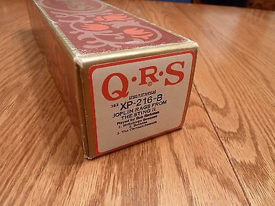 QRS Long-Play Pianola Roll - JOPLIN RAGS FROM THE STING II