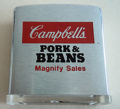 Vintage Zippo Campbells Pork and Beans Magnify Sales Magnifying Glass