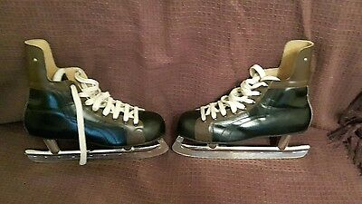 Vintage Kovopol Tornado Leather ice skates EUR 44  UK SIZE 9