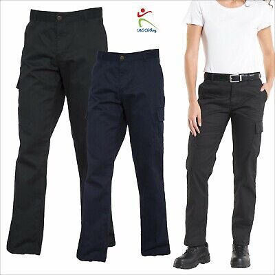 Ladies Cargo Trousers Women's Combat Safety Action Work Wear Pants Bottoms Lot