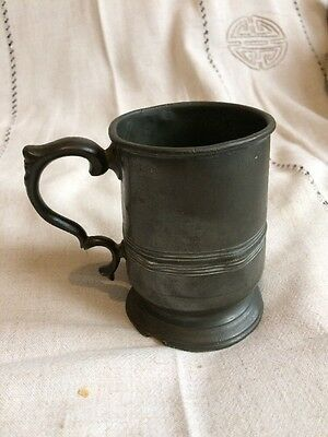 Pewter Tankard,half Pint Circa 1880, Makers Hanson & Sons London