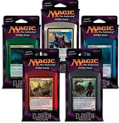 Magic: The Gathering Eldritch Moon Intro Packs x3