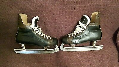 Vintage Kovopol Tornado Leather ice skates EUR 42  UK SIZE 8