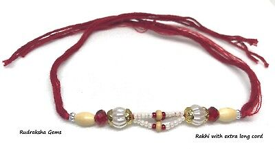 Rakhi Rakhadi Rakhari Indian Wrist Band Indian Festival Rakhdi Om Pearl Fancy