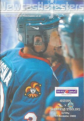 Ice Hockey Programme - Newcastle Jesters v Sheffield Steelers 05/11/2000