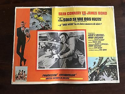 Mexico You Only Live Twice 1963 James Bond MEXICAN LOBBY CARD Poster