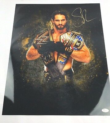 WWE Seth Rollins Autograph Signed 16x20 Photo JSA COA NXT The Shield Picture Z10