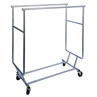 Econoco Collapsible Garment Rack with Double Round Tubing Hangrail Clothing