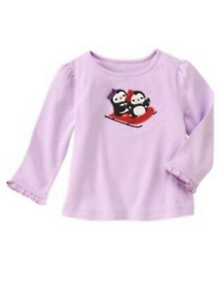 NWT Gymboree Girls Winter Penguin Top Size 3-6 M 12-18 M 18-24 M 2T /& 4T