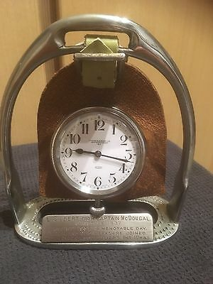 Swaine & Adeney 1920's Art Deco 8 Days Clock V.W.H Old Berkshire Fox Hunting Gwo