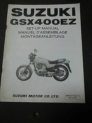 Suzuki GSX400EZ GSX400 EZ set up manual 1982