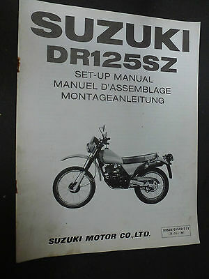 Suzuki Dr125Sz Dr125 Sz Set Up Manual 1982