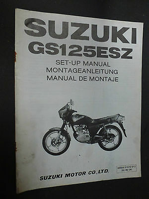 Suzuki Gs125Esz Gs125 Esz Set Up Manual 1982