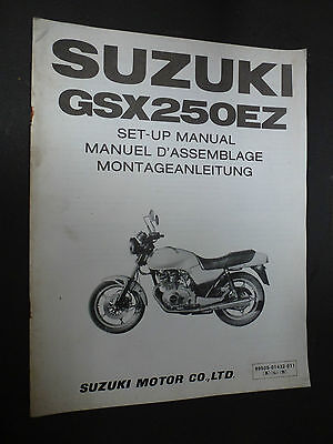 Suzuki Gsx250Ez Gsx250 Ez Set Up Manual 1982