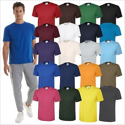 Uneek Classic T-Shirt Unisex Mens Plain Short Sleeve Blank Cotton Round Neck TOP