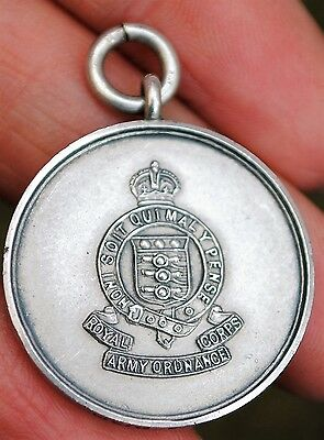 Solid silver RAOC boxing medallion