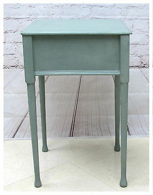 Vintage Painted Wooden Sewing Box With Removable Tray. Side Table Storage