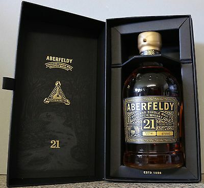 Aberfeldy 21 Y Single  Highland  Malt Scotch Whisky 40% 0,7l