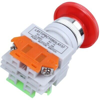 Push button AC 660V 10A Emergency stop plastic case Hard red switch T2S4