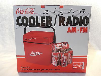 1991 Coca-Cola Plastic Cooler Radio AM/FM MIB