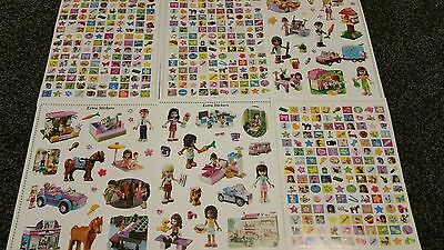 Lego Friends Stickers A4 Sized X18 Pages, Large Collection Of Stickers