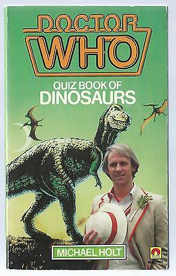 Doctor Who Quiz Book Of Dinosaurs Magnet Paperback Signed By Peter Davison Good
