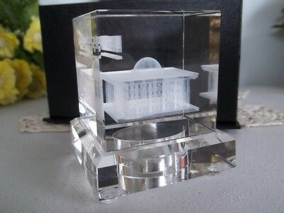 lazer art crystal cube. National Assembly Building in Korea