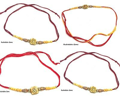 Rakhi Raksha Bandhan Om Aum Indian Wrist Band Festival Hindu Rakhdi Whole Sale