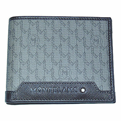 New Montblanc Signature Wallet Leather/Fabric/PVC in Stone/Brown 111111 Italy