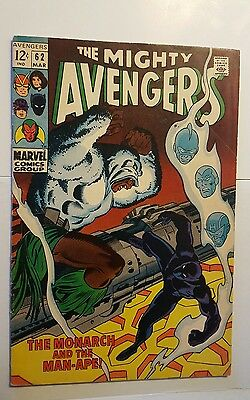 Avengers #62 1st Man Ape Marvel Silver Age 1969 1st solo Black Panther MOVIE