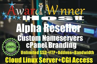 Alpha Reseller Hosting For 2 Year Unlimited CPANEL/WHM@5.99 CloudLinux VPS