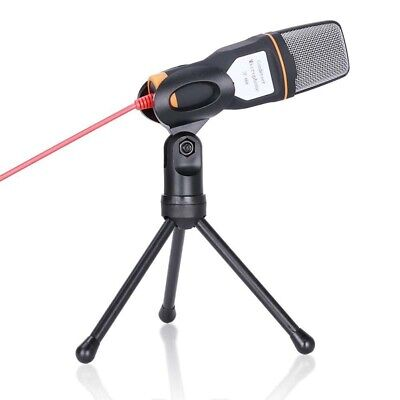 Condenser Microphone with Tripod Base, 3.5mm jack for PC Laptop Computer C4R8