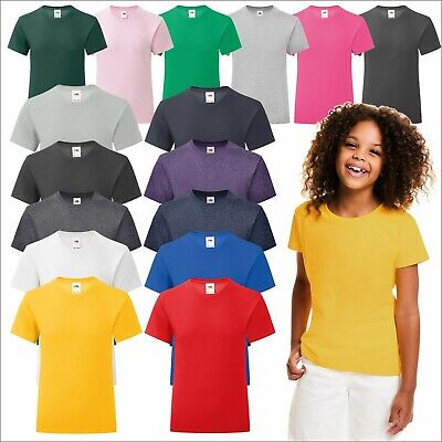 Girls Sofspun® T T-Shirt Juniors Plain Short Half Sleeve Tee Shirt Crew Neck TOP