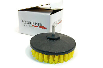 Rotary Carpet Brush Drill Attachment: Carpet, Boat Hulls, Tile, Grout, Showers