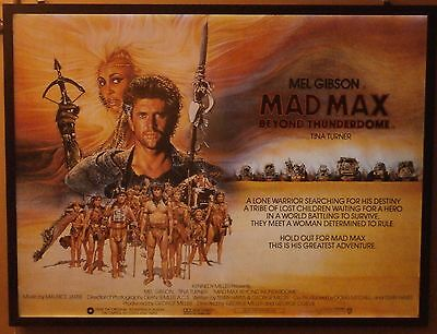MAD MAX BEYOND THUNDERDOME, Mel Gibson, Tina Turner, ORIGINAL QUAD CINEMA POSTER