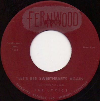 Lyrics - Let's Bee Sweethearts Again / You and Your Fellow Fernwood Memphis