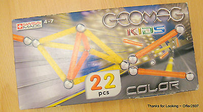 Geomag ~ YELLOW & ORANGE ~ Magnetic Construction ( 22 Pieces ) **NEW **