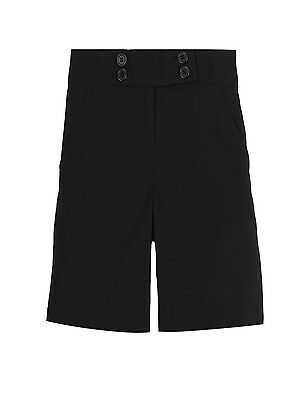 Girls School Shorts Ex Chainstore In Black And Grey