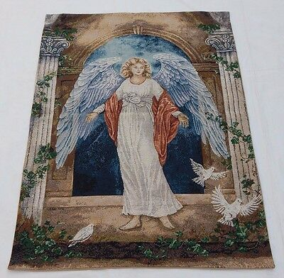 Vintage French Beautiful Angel Tapestry Wall Hanging 65x89cm T756