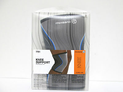 Rehband Knee Support SBR Neoprene 5mm - Grey - Small [MB-A-R]
