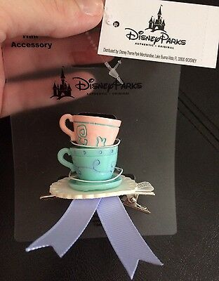 Disney Parks Dress Shop Dapper Day Alice In Wonderland Tea Party Cup Hair Clip