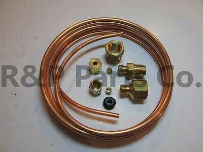 """Oil Pressure Gauge Copper Tubing Line Kit 6/' x 3//16/"""" for Ford Tractors  NEW"""