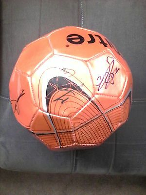 Manchester United 2010 autographed soccer ball with 7 signatures