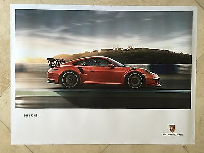 Porsche Original Factory Poster-2015 Carrera 911 | 991 GT3 RS-Side Shot