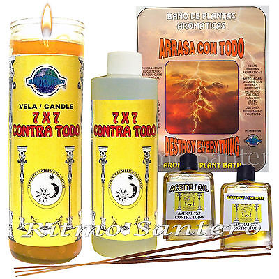 HOLY DEATH SET Ritual 7 Day Candle, Herbs Cleansing Bath