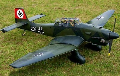"Scale  STUKA -JU 81  71""    Giant   RC Model AIrplane Printed Plans"