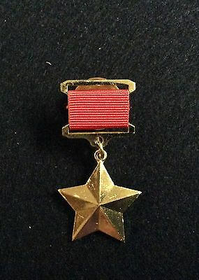 HERO OF THE SOVIET UNION Gold Star Medal USSR WWII Russian