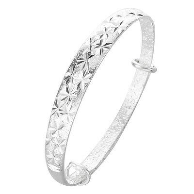 Adjustable Bracelet Bangle Plated Silver Color New Fashion Jewelry PK